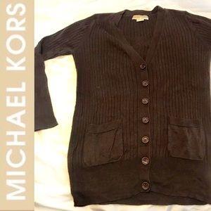 Michael Kota Brown Button Down Cardigan Sweater